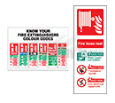 Rigid Plastic Fire Extinguisher I.D Signs