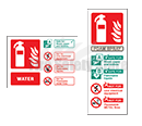 Self Adhesive Fire Extinguisher I.D Signs