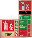 Antique Copper Fire Extinguisher I.D Signs