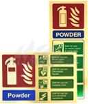 Prestige Gold Fire Extinguisher I.D Signs