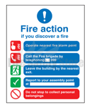 Rigid Plastic Fire Action Signs