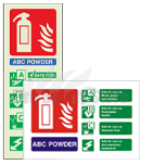 Fire Extinguisher ID Signs | Fire Safety Store