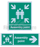 Aluminium Fire Assembly Point Sign