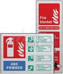 Prestige Fire Extinguisher I.D Signs