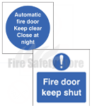 Rigid Plastic Fire Door Signs