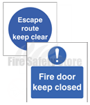 Self Adhesive Fire Door Signs