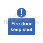150mm X 100mm Rigid Plastic Caution Fire Door Keep Shut Sign