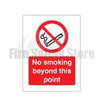 No Smoking Beyond This Point Self Adhesive Sign