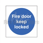 100mm X 100mm Rigid Plastic Fire Door Keep Locked Sign
