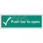 300mm X 100mm Rigid Plastic Push Bar To Open Sign 1