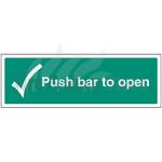 450mm X 150mm Rigid Plastic Push Bar To Open Sign 1