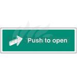 450mm X 150mm Rigid Plastic Push To Open Sign