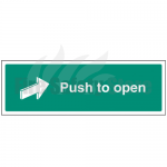 300mm X 100mm Rigid Plastic Push To Open Sign