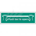 450mm X 150mm Rigid Plastic Push Bar To Open Sign