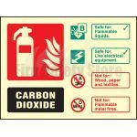 100mm x 150mm Landscape Photoluminescent Co2 Fire Extinguisher Sign