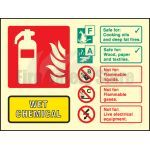 Landscape Photo-luminescent Wet Chemical Fire Extinguisher Sign
