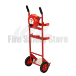 Double Fire Extinguisher Trolley c/w Bell