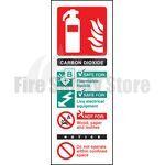 Portrait Rigid Plastic Co2 Fire Extinguisher Sign