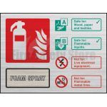 Prestige Landscape AFFF Foam Fire Extinguisher Sign (Stainless Look)