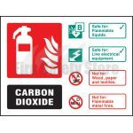 Landscape Self Adhesive Co2 Fire Extinguisher Sign