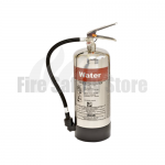 FireGuard Polished 6 Litre Water Fire Extinguisher