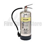 FireGuard Polished 9 Litre AFFF Foam Fire Extinguisher