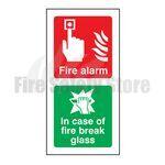 Fire Alarm Call Point c/w Break Glass Sign