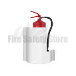 Single White WAVE Wall Extinguisher Stand