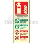 Portrait Photo-luminescent AFFF Foam Fire Extinguisher Sign