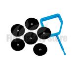 FireChief Black Ok Indicators & Blue Pin (Pack Of 25)