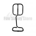Single Black Tubular Fire Extinguisher Stand