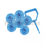 FireChief Blue Ok Indicators & Blue Pin (Pack Of 25)