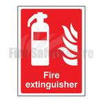 200mm X 150mm Rigid Plastic Fire Extinguisher Point Sig