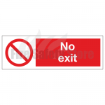 No Exit Sign (Rigid Plastic)