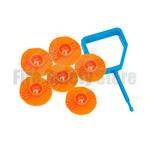 FireChief Orange Ok Indicators & Blue Pin (Pack Of 25)