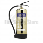 Contempo Polished Gold 6Kg ABC Dry Powder Fire Extinguisher