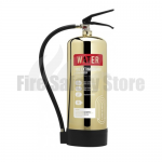 Contempo Polished Gold 6Ltr Water Fire Extinguisher