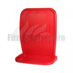 Double Red Two-Part Fire Extinguisher Stand