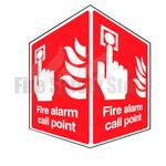 Rigid Plastic 150mm x 200mm Fire Alarm Call Point Projecting Sign
