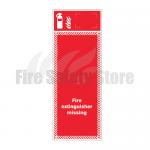 Single Fire Extinguisher Foam PVC Board
