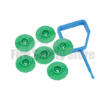 FireChief Green Ok Indicators & Blue Pin (Pack Of 25)