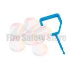 FireChief White Ok Indicators & Blue Pin (Pack Of 25)