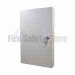 White Slimline Fire Document Cabinet With Key Lock