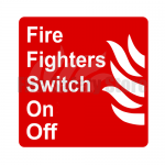 250mm X 250mm Fire Fighters Switch On / Off