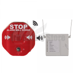 Red STI-6400WIR8 Wireless Exit Stopper Multi-Function Door Alarm with 8-Channel Receive