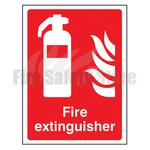 400mm X 300mm Rigid Plastic Fire Extinguisher Point Sign