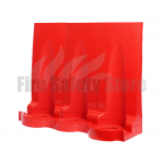Triple Red Modular Flat Pack Fire Extinguisher Stand