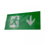 LED Maintained Emergency Lighting Exit Box Down Arrow Legend