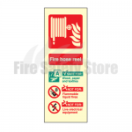 Portrait Photo-luminescent Fire Hose Reel Sign