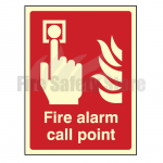 200mm X 150mm Photoluminescent Fire Alarm Call Point Sign
